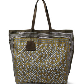 Burberry - ProrsumPrinted Leather-Trimmed Tote Bag