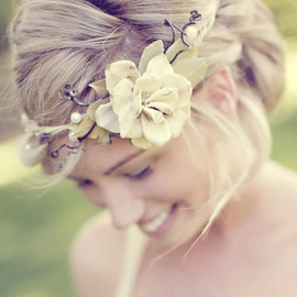 whichgoose - woodland hair crown 'queen of the woods' no. 88 wedding accessory head piece