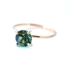 simmon - K10×SV Crystal Ring (green)