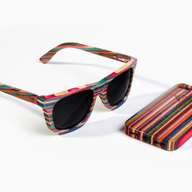 Diamond Supply Co. - Brilliantly Crafted 100% Recycled Skateboard Wood Sunglasses & iPhone 5 Case