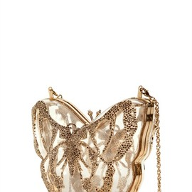 VALENTINO - JEWEL PLEXIGLASS BUTTERFLY CLUTCH