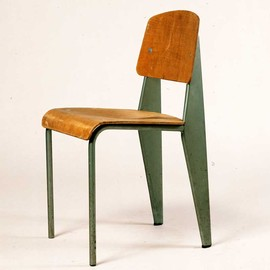 Jean Prouvé - Chair in metal and wood, N°305, c.1951, original
