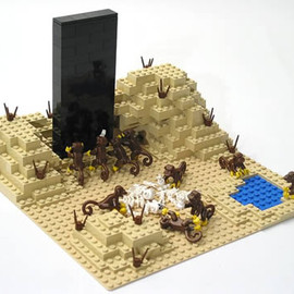 LEGO  - recreation of the scene from 2001 A Space Odyssey