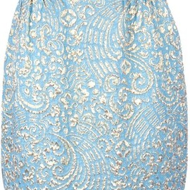 DOLCE&GABBANA - Embroidered A line skirt