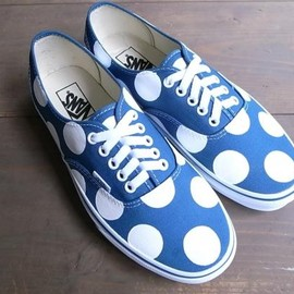 Chickennot - VANS AUTHENTIC NAVY+WHITE 30MM DOTS