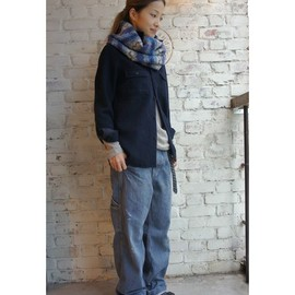 JOURNAL STANDARD LUXE - FADE BLUE DENIM PAINTER_