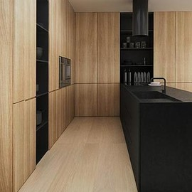 Solid Timber and Black Granit Kitchen