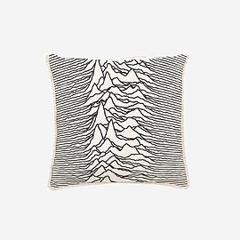 GOODHOOD, JOY DIVISION, Peter Saville - 'UNKNOWN PLEASURES' CUSHION