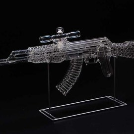 MICKELSEN STUDIOS - Full-Sized Glass Ak-47 Bong