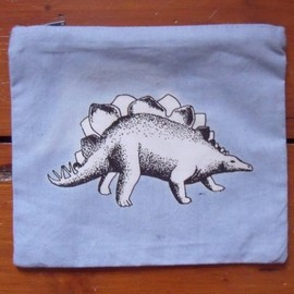 caitlinhinshelwood - Stegosaurus Dinosaur Purse Pouch Make Up Bag