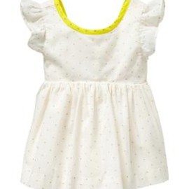 GAP - Dot contrast-trim top
