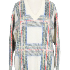Stella McCartney - 2013AW Plaid-intarsia knitted sweater