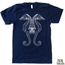 Zen Threads - Sea Horse Mens Tシャツ/M