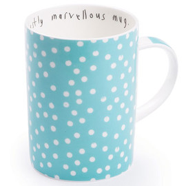 uncommonly good cup mug and saucer, ls dot old blue