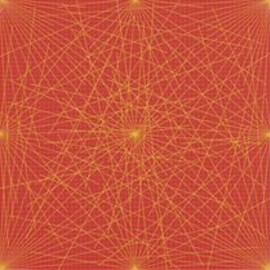 Sol Lewitt - Yellow on Red