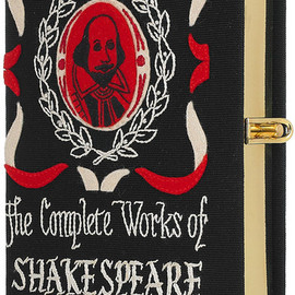 Olympia Le-Tan - Olympia Le-tan The Complete Works Of Shakespeare Embroidered Clutch in Black (red) - Lyst