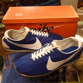 "NIKE - 「<deadstock>70's NIKE BOSTON navy/white""made in JAPAN"" W/BOX size:US9/h 148000yen」完売"