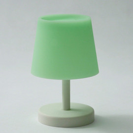 CEMENT PRODUCE DESIGN, Glow in the lamp - green