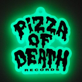 "PIZZA OF DEATH - PIZZA ""GLOW IN THE DARK"" KEYCHAIN XXL"
