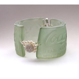 recycled coca-cola bottle cuff by Amanda Jaron Jewelry. - recycled coca-cola bottle cuff by Amanda Jaron Jewelry.
