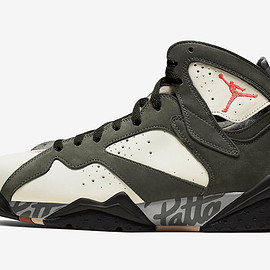 NIKE - PATTA × Nike Air Jordan 7 OG SP Icicle/Sequoia -River Rock- Light Crimson