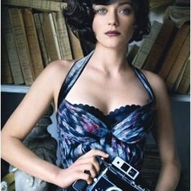 Louis Vuitton dress with printed silk bustier - a blue bra with dot trim from Stella McCartney