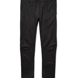 Lanvin - Slim-Fit Cotton-Gabardine Biker Trousers
