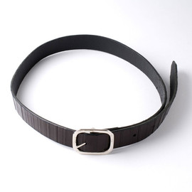 Ki:ts - Ki:ts 30mm Retrowood black leather belt