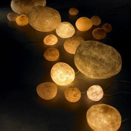 Rock lamps by Andre Cazenave