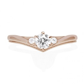 Hatae jewelry - K18PG Diamond Engagement Ring