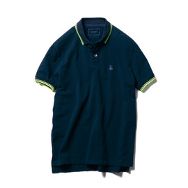 SOPHNET. - COLOR LINE RIB POLO SHIRT