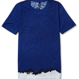 Neil Barrett - Neil Barrett Printed Textured-Cotton T-Shirt