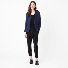 BAND OF OUTSIDERS - Pleat Back Blazer W/ Satin Collar