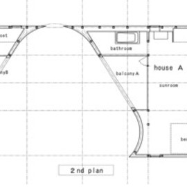 Japanese architect : Akio Nakasa -  Plan - A House Made of Two