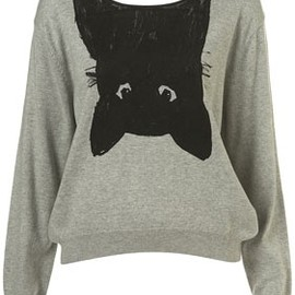 TOPSHOP - CAT BACKLESS JUMPER
