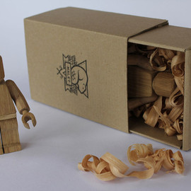 Wood-Carved Lego Guys by Malet Thibaut