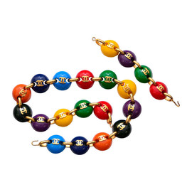 CHANEL - Vintage multicolor M&M belt / necklace and bracelet set