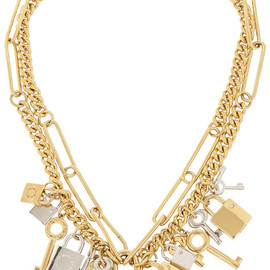 MARC BY MARC JACOBS - Lock & Key gold-tone crystal necklace