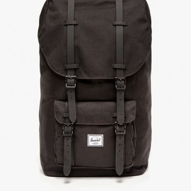 Herschel - Little America in Black Rubber