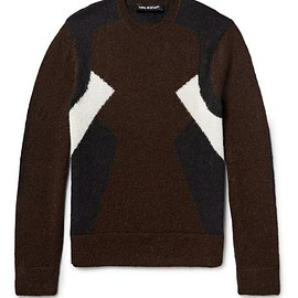 Neil Barrett - Panelled Wool and Alpaca-Blend Sweater
