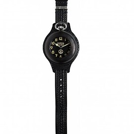Porter Classic - Porter Classic - BLACK FACE POCKET WATCH W/ LEATHER BAND - BLACK