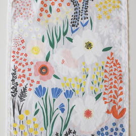 Lisa rupp - Grey Floral Dishtowel
