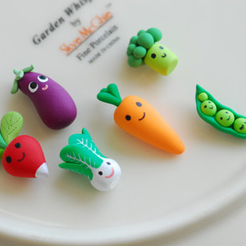 Miniature veggie magnets