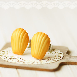 Luulla - Food Earrings - French Madeleine Earring Studs