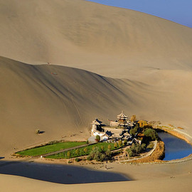 Dunhuang, China - Yueyaquan Lake