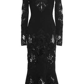 DOLCE&GABBANA - FW2015 Long Sleeve Intaglio Flounce Dress