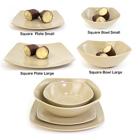 EcoSouLife - HUSK Square Plate / Square Bowl