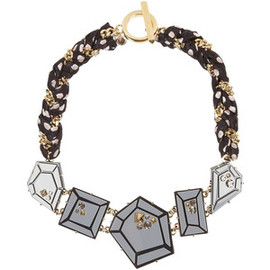 MARC BY MARC JACOBS - Marc by Marc Jacobs Giant Gems printed silk and crystal necklace