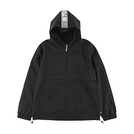 STUSSY - Light Nylon Full Zip Jacket (Reflective) - Black/Grey