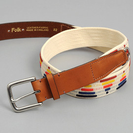 "Folk - ""Hesse"" Belt, Ecru / Multicolor"